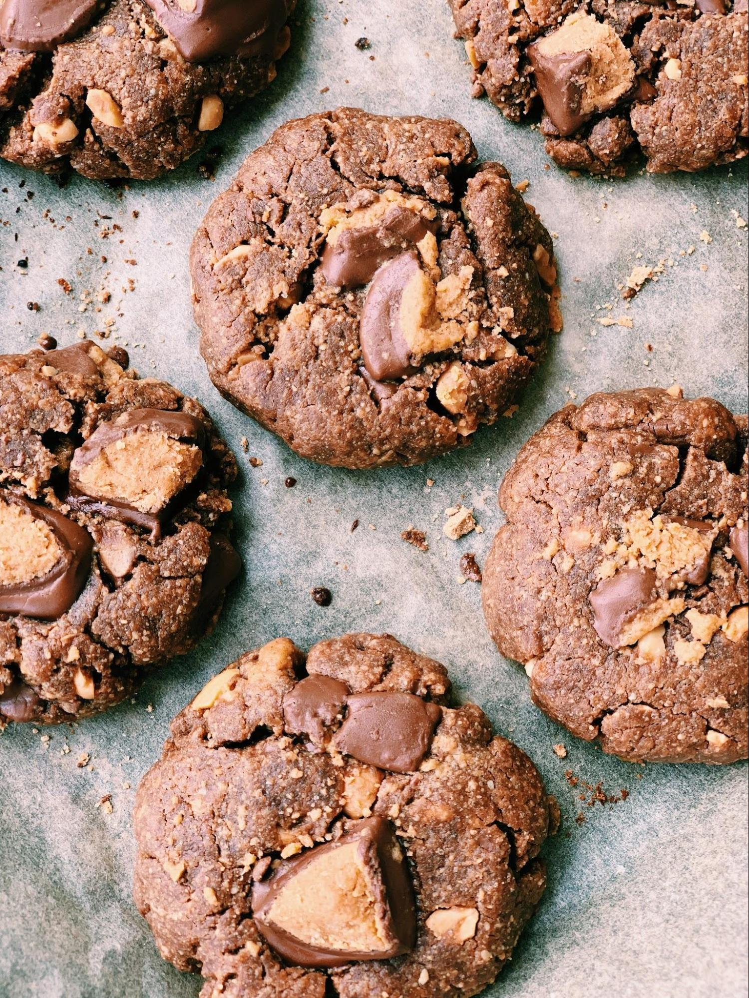 Flourless Double Chocolate Peanut Butter Cup Cookies Melissa S Healthy Kitchen